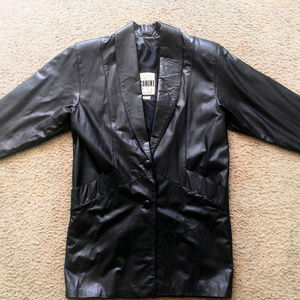 Vintage 1990s Black Genuine Leather Jacket
